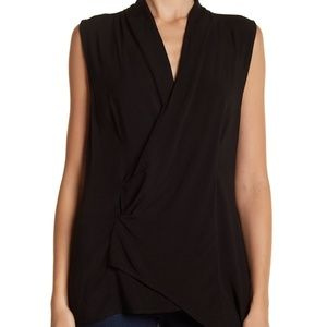 NWT Michael Stars Asymmetrical Sleeveless Blouse